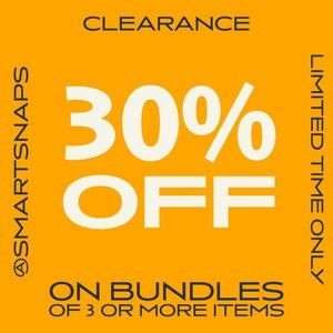 30 OFF EVERYTHING on Bundles of 3 or more items